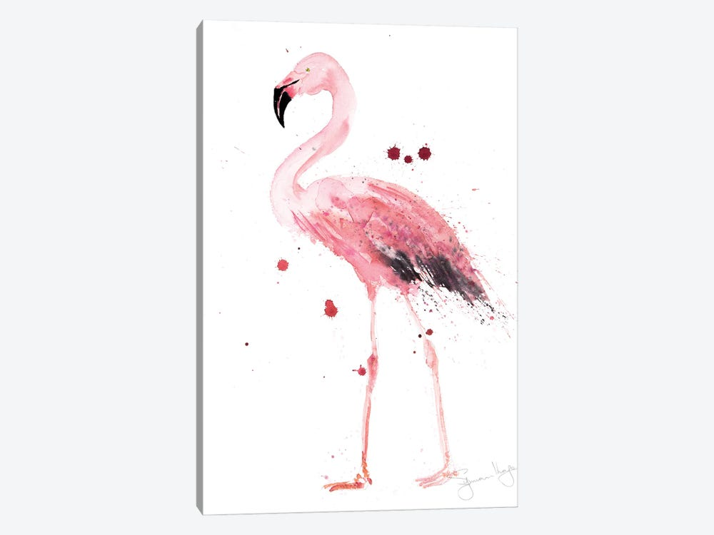 Mingo Flamingo by Syman Kaye 1-piece Canvas Art Print
