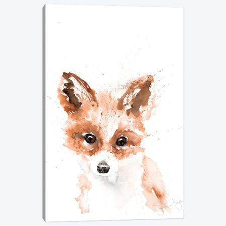 Mini Fox I Canvas Print #SYK89} by Syman Kaye Canvas Print
