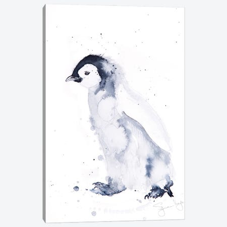 Mini Penguin I Canvas Print #SYK91} by Syman Kaye Canvas Art