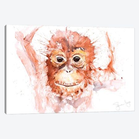 Orangutang Baby I Canvas Print #SYK98} by Syman Kaye Canvas Art
