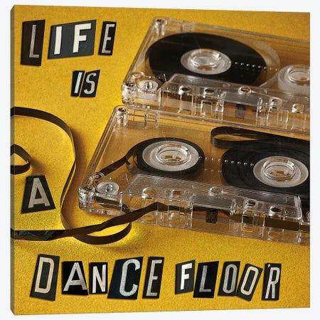 Life Is A Dance Floor Canvas Print #SYM32} by Symposium Design Canvas Wall Art