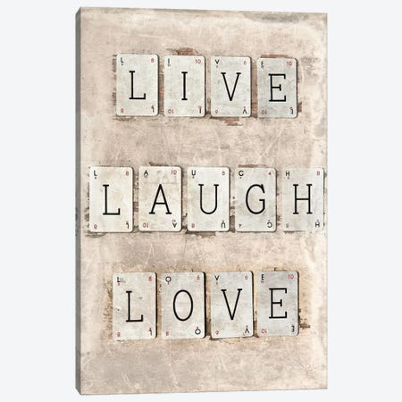 Live Laugh Love Canvas Print #SYM33} by Symposium Design Canvas Wall Art