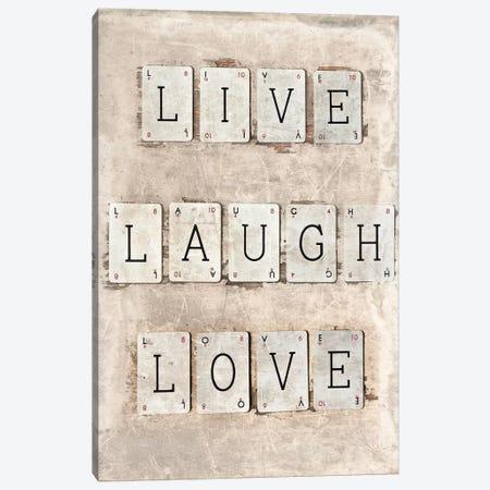 Live Laugh Love Canvas Print #SYM33} by Symposium Design Canvas Wall Art
