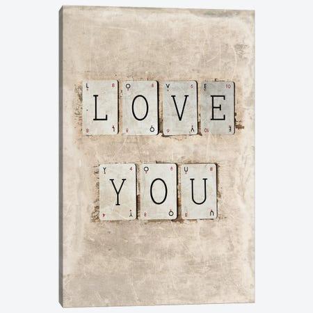Love You Canvas Print #SYM34} by Symposium Design Canvas Art Print