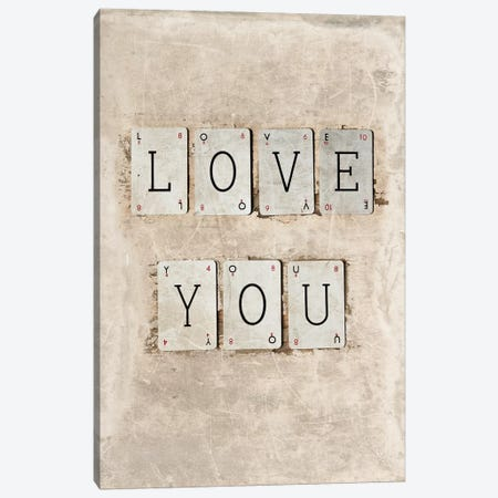 Love You Canvas Print #SYM34} by Symposium Design Canvas Art Print