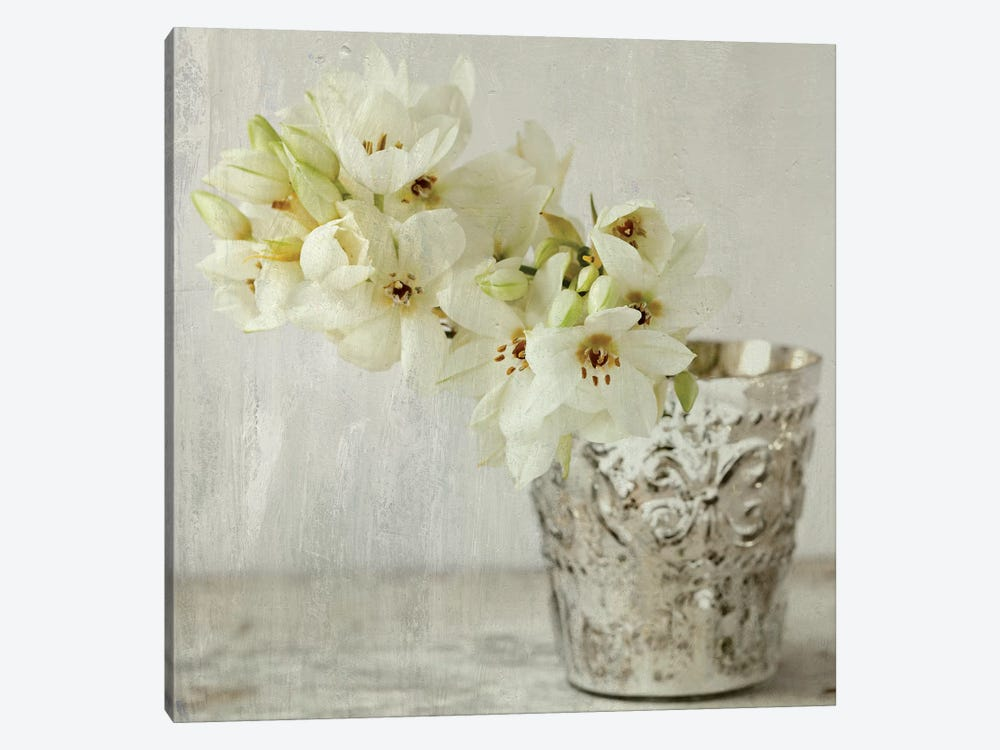 Silver Vase by Symposium Design 1-piece Canvas Artwork