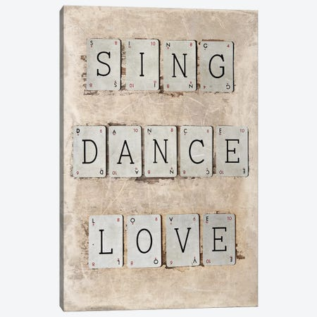Sing 3-Piece Canvas #SYM41} by Symposium Design Canvas Art Print