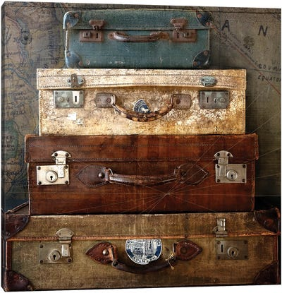 Suitcases Canvas Art Print