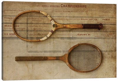 Tennis Canvas Art Print