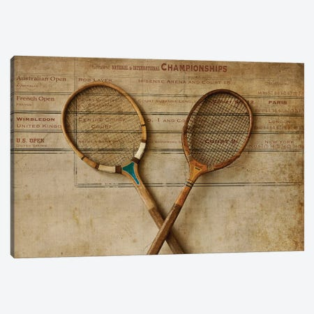 Tennis II Canvas Print #SYM47} by Symposium Design Canvas Wall Art