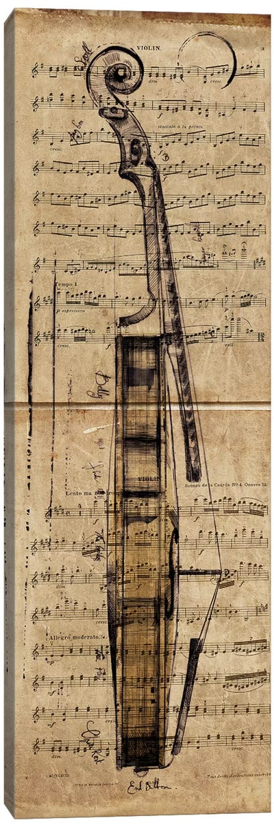 Violin Music Canvas Art Print