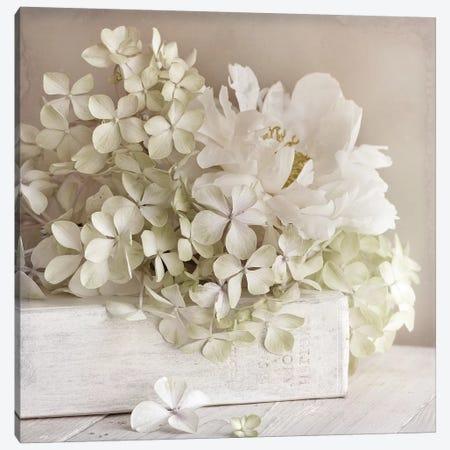 White Flower Book Canvas Print #SYM53} by Symposium Design Canvas Wall Art