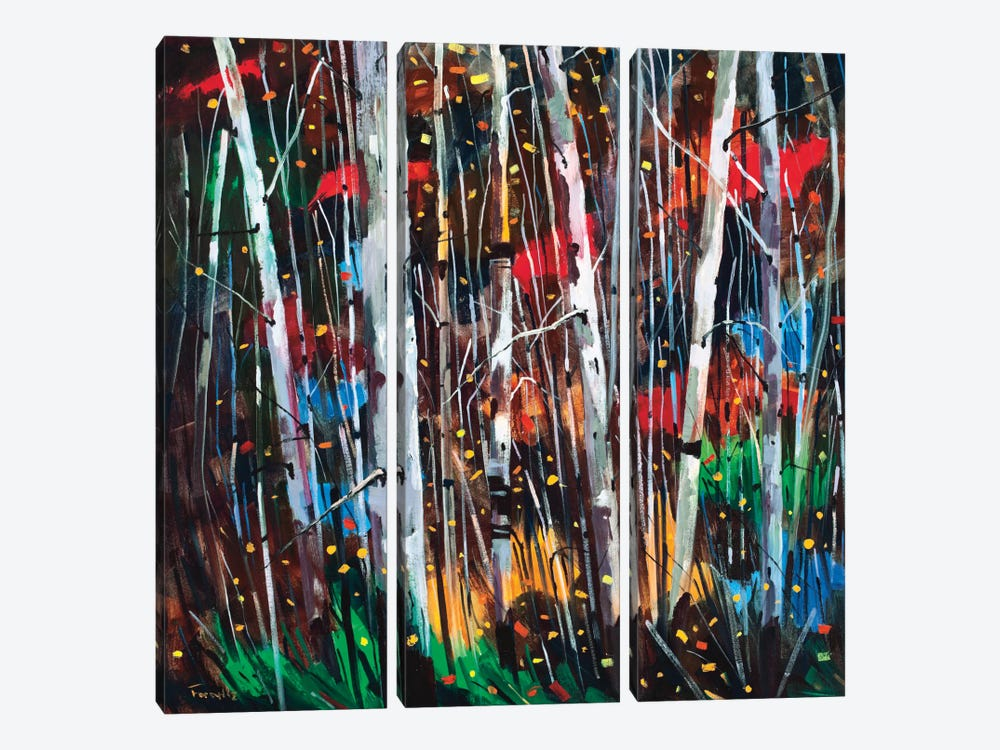 Autumn Fireworks by Graham Forsythe 3-piece Canvas Artwork