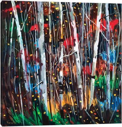 Autumn Fireworks Canvas Art Print
