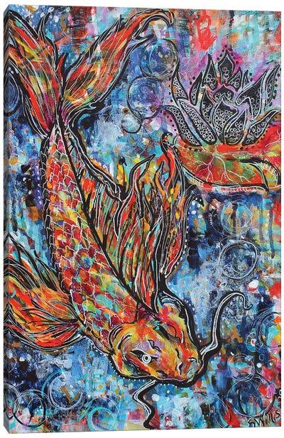 Koi Circles Canvas Art Print