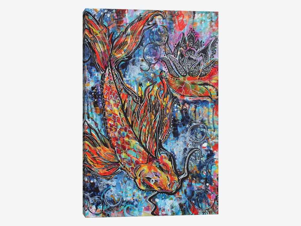 Koi Circles by Shelby Willis 1-piece Canvas Art