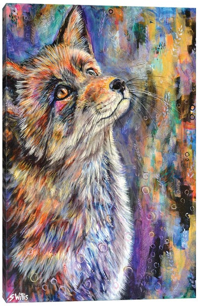 Sunshine Fox Canvas Art Print