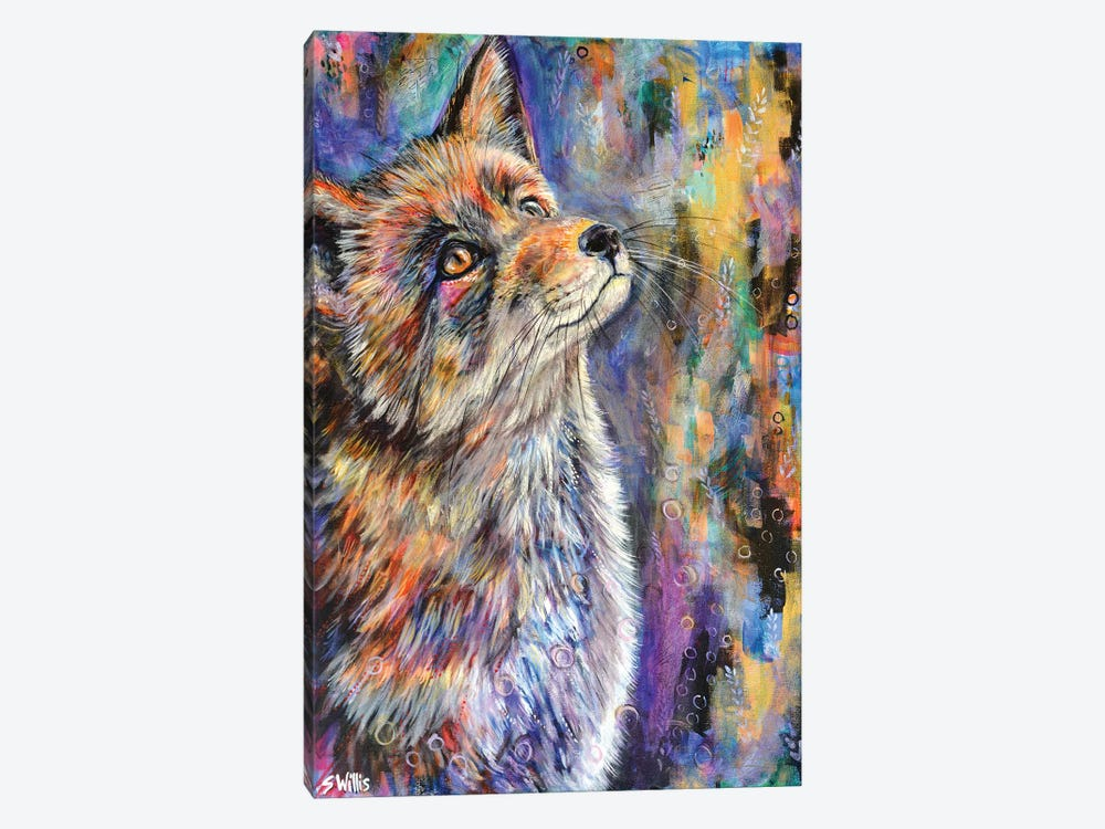 Sunshine Fox by Shelby Willis 1-piece Canvas Artwork