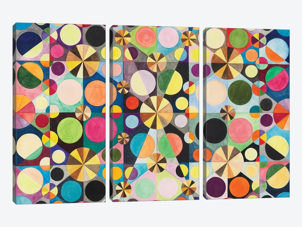 Wheel Within A Wheel LXXXVIII by Lorien Suárez-Kanerva 3-piece Canvas Artwork
