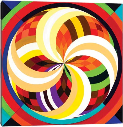 Wheel Within A Wheel CXIX Canvas Art Print