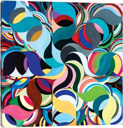 Wheel Within A Wheel CXVI Canvas Art Print