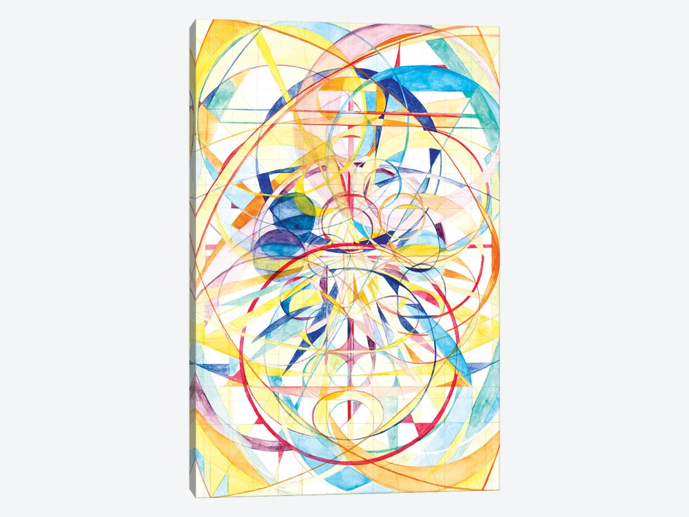 Wheel Within A Wheel II by Lorien Suárez-Kanerva 1-piece Canvas Art Print