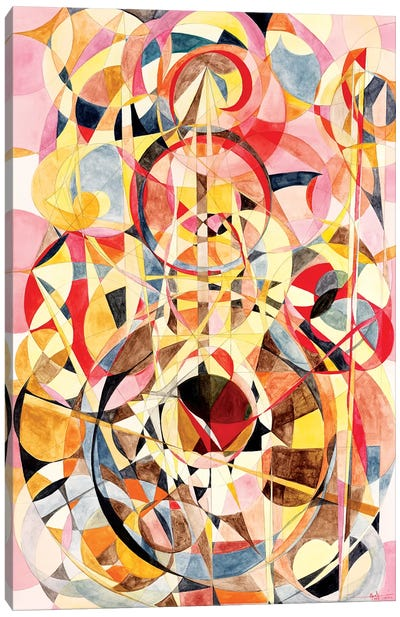 Wheel Within A Wheel XV Canvas Art Print
