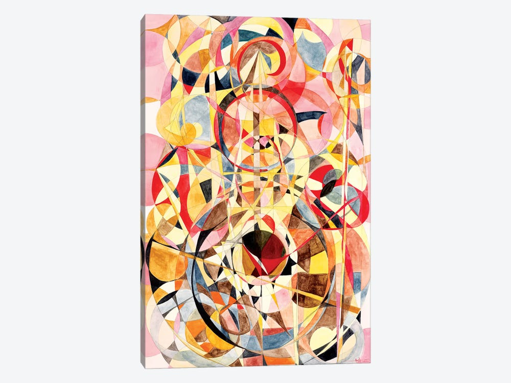 Wheel Within A Wheel XV by Lorien Suárez-Kanerva 1-piece Canvas Art Print