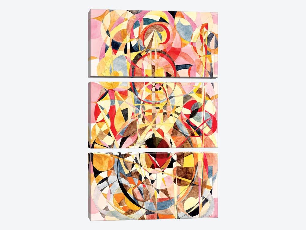 Wheel Within A Wheel XV by Lorien Suárez-Kanerva 3-piece Canvas Art Print