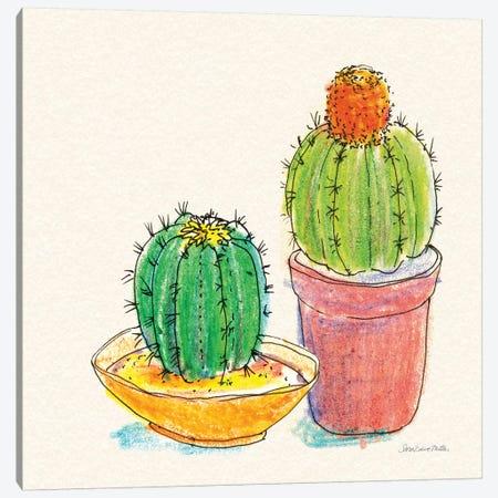 Cacti Garden III Canvas Print #SZM11} by Sara Zieve Miller Canvas Artwork