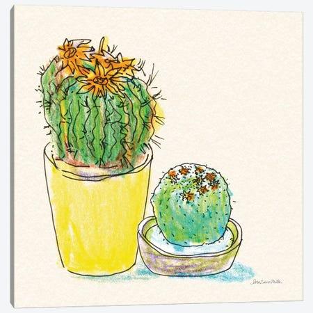 Cacti Garden IV Canvas Print #SZM12} by Sara Zieve Miller Canvas Wall Art