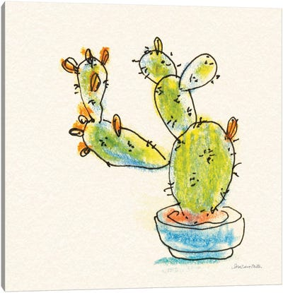 Cacti Garden V Canvas Art Print