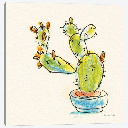 Cacti Garden V Canvas Print #SZM13} by Sara Zieve Miller Canvas Wall Art