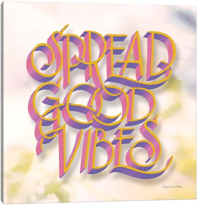 Spread Good Vibes Canvas Art Print