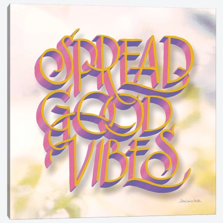 Spread Good Vibes Canvas Print #SZM19} by Sara Zieve Miller Canvas Artwork