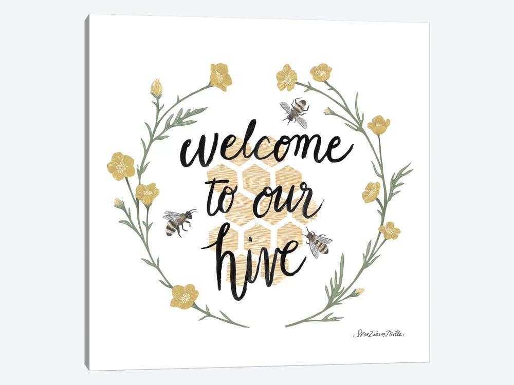 Happy to Bee Home III Welcome by Sara Zieve Miller 1-piece Canvas Art Print
