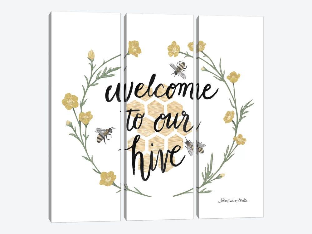 Happy to Bee Home III Welcome by Sara Zieve Miller 3-piece Art Print