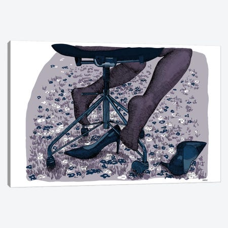 Nylons Canvas Print #SZQ13} by Suzie-Q Canvas Artwork