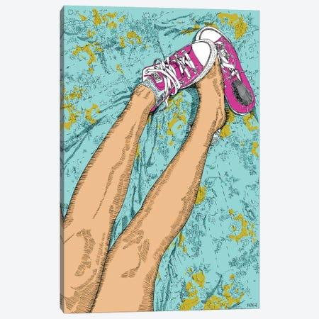 Pink All Stars Canvas Print #SZQ15} by Suzie-Q Canvas Print