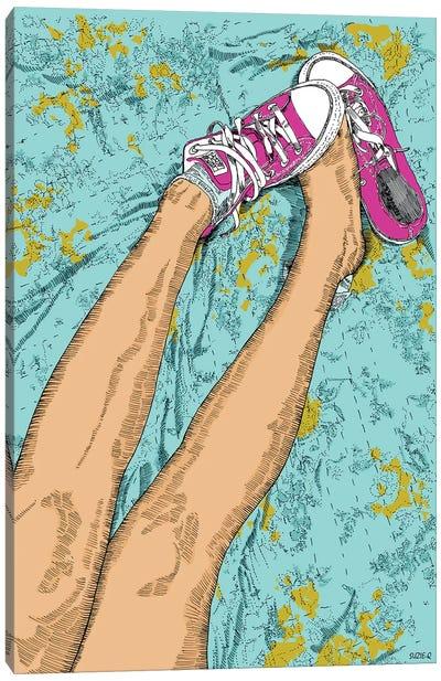 Pink All Stars Canvas Art Print