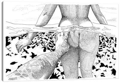 The Swim Canvas Art Print