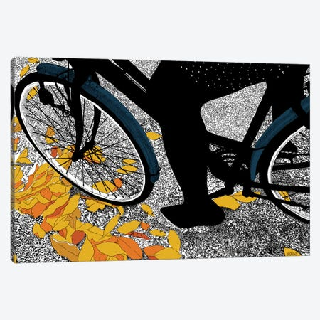 Autumn Bike Canvas Print #SZQ2} by Suzie-Q Canvas Wall Art