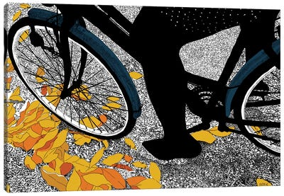 Autumn Bike Canvas Art Print