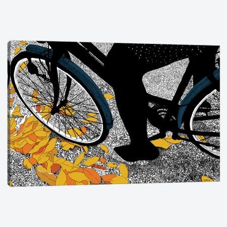 Autumn Bike Canvas Print #SZQ2} by Suzie-Q Canvas Wall Art