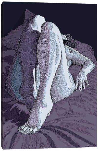 Exhausted Canvas Art Print