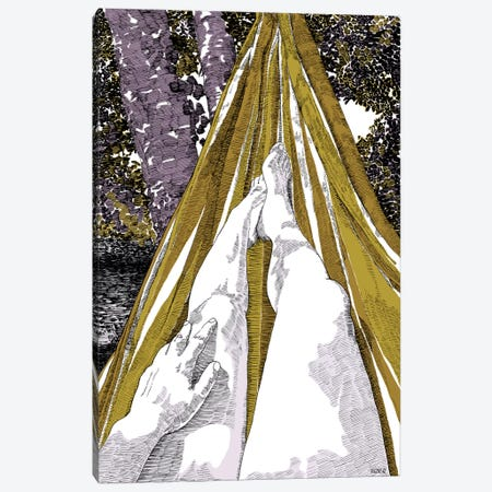 Hammock Canvas Print #SZQ8} by Suzie-Q Canvas Wall Art