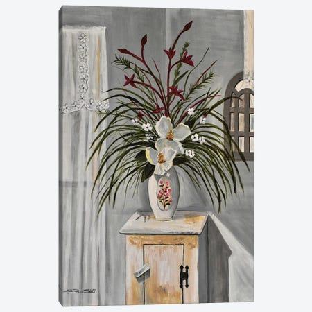 Magnolia Blooms Canvas Print #SZS101} by SueZan Stutts Canvas Art Print