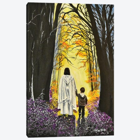 Thank You Jesus, For Always Holding My Hand Canvas Print #SZS104} by SueZan Stutts Canvas Wall Art