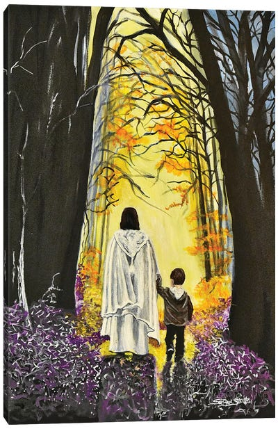 Thank You Jesus, For Always Holding My Hand Canvas Art Print