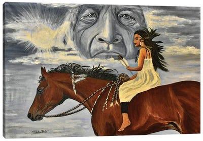 Eagle Feather Canvas Art Print